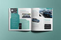 Hybrid Vehicle Brochure Print Design